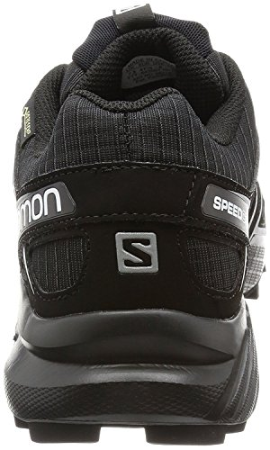 Salomon Herren Speedcross 4 GTX Trail Laufschuhe Schwarz / Schwarz / Silber Metallic X W / Socke