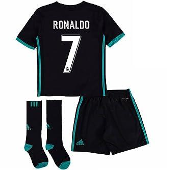 Desconocido Real Madrid Cristiano Ronaldo jóvenes Kid 2017 2018 17 18 Fútbol Away Jersey Kit: Jersey, Corto, y Calcetines, Negro: Amazon.es: Deportes y aire ...