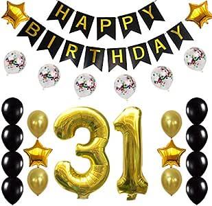 Amazon.com: 31st Birthday Decorations Party Supplies Happy ...