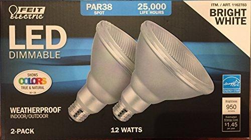 Feit PAR38 Spot Dimmable LED Light Bulb 2-Pack - 38 Led Spot