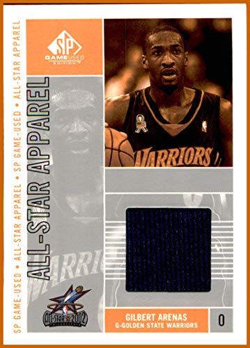 (2002-03 SP Game Used All-Star Apparel #GIAS Gilbert Arenas EVENT USED JERSEY GOLDEN STATE WARRIORS)