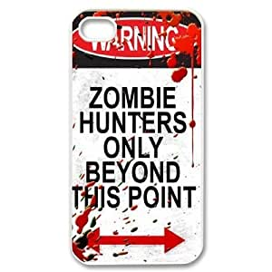 Customized Zombie Hunter Iphone 4,4S Cover Case, Zombie Hunter Custom Phone Case for iPhone 4, iPhone 4s at Lzzcase