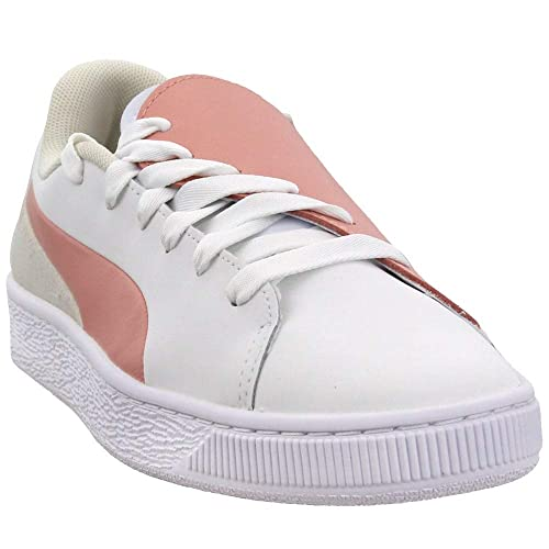 PUMA Women's Basket Crush Paris Peach BeigePuma White 9 B