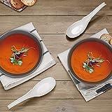 Hiware 12-piece Asian Soup Spoons, Rice