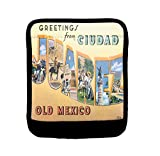 Greetings Ciudad Juarez Travel Poster Luggage Handle Wrap Finder