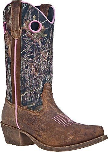 John Deere Women's 11-inch Camo/Brown/Pink Wellington Western Cowboy Boots 6.5 M