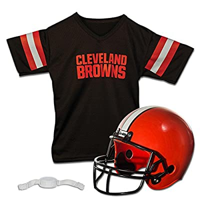 Franklin Sports NFL Cleveland Browns Replica Youth Helmet and Jersey Set