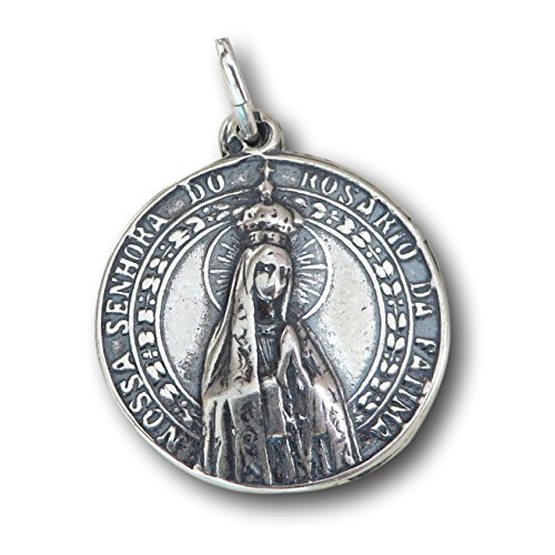Our Lady of Fatima Medal - Antique - Portugal Rosa