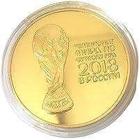 Beito Cuivre plaqué Coupe du Monde pièce de Monnaie Cadeau de Collection de pièce d'art (Or, 1pcs)