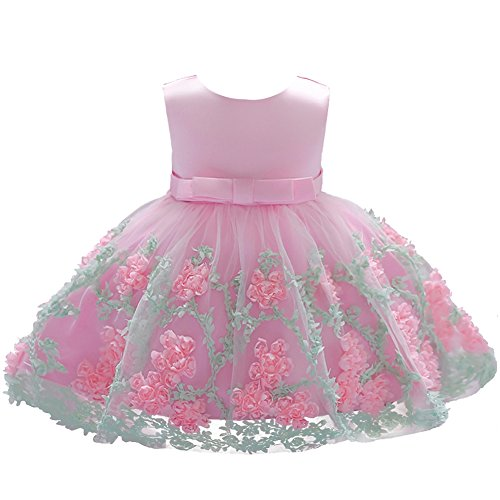 Dressy Daisy Baby Girls Dresses Pageant Dress Wedding Flower Girl Dress Size 12-18 Months Pink