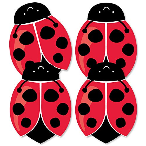 Big Dot of Happiness Happy Little Ladybug - Decorations DIY Baby Shower or Birthday Party Essentials - Set of 20 -
