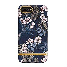 Richmond & Finch Diseñada para iPhone 6+ / 6s+ / 7+ / 8+ Funda, Selva Floral Funda con Detalles Dorados for iPhone 6+ / 6s+ / 7+ / 8+