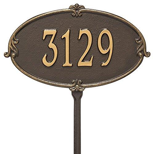 "Custom Monte Carlo Standard LAWN Address Plaque 16""W x 10""H (1 Line)"
