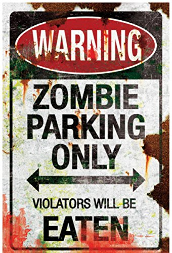 [Metal Sign-Zombie Parking, As Shown, One Size] (Road Sign Halloween Costumes)