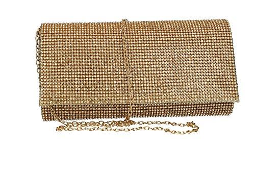 Para Bolso Las Strass Pochette De Ceremonias Michelle Con Vn2349 Oro Mujer Luna Y4w6nxaa