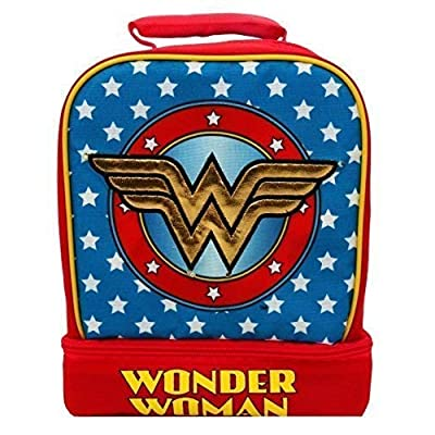 UPD Wonder Woman Light-Up Lead-Free Dual-Chamber Lunch Tote Bag Box W/ Lights: Toys & Games