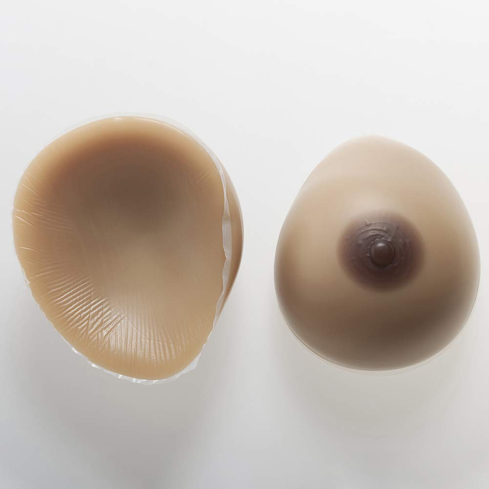Silicone Breast Forms Waterdrop Fake Boobs Non-Allergic for Crossdresser TransBreast Prosthesis,3,600g/M/CupB
