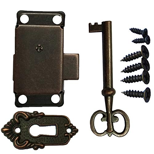 Bronze Cabinet Lock Locker Door Lock Spring Door Lock Installation Easy and Beautiful (Bronze)