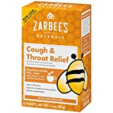 Zarbee's Naturals Cough & Throat Relief Daytime Drink Mix with Vitamin C, Zinc, Elderberry, Natural Apple Spice Flavor, 6 Packets