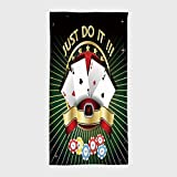 iPrint Cotton Microfiber Hotel SPA Beach Pool Bath Hand Towel,Poker Tournament Decorations,Just Do It Old Fashioned Composition Luck Passion Wager Win,Multicolor,for Kids, Teens, and Adults