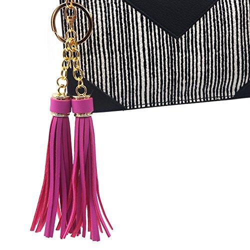 Chaîne de Accessoires voiture Cuir support Main YoKII un à clé Sac clés Lot Anneaux de Femme Tassel présentation Portefeuille Porte 80pcs Ogw7zPq