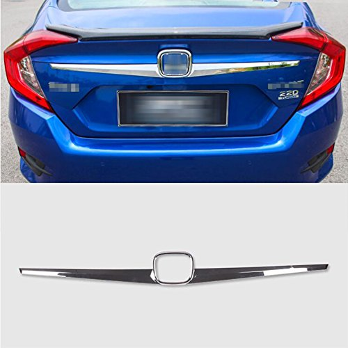 Chrome Trunk Lid Trim (Rqing For Honda Civic 10th 2016 2017 2018 Chrome Rear Trunk Lid Tail Gate Cover Trim)