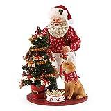 "Department 56 Possible Dreams Santa Claus ""Good Dog"" Clothtique Christmas Figurine"