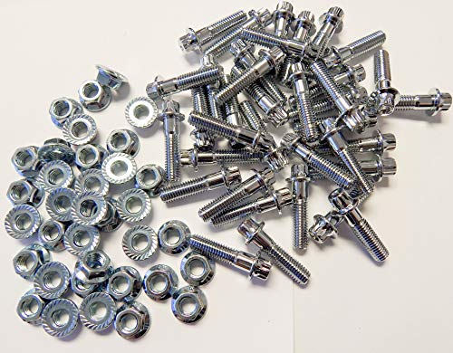 LB Forged (160pcs) 8mm Assembly Chrome Bolts for 2 and 3 Piece - Chrome Wheel Forged