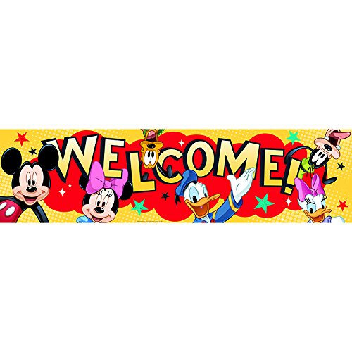 EUREKA MICKEY WELCOME CLASSROOM BANNER (Set of 24) by Eureka