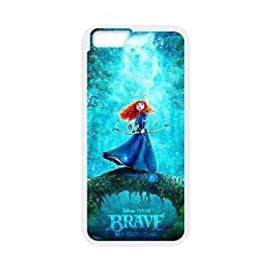 Generic for iPhone 6 Plus 5.5 Inch Cell Phone Case White Brave Custom HLFFKDOFS2484