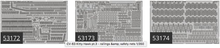 MODEL KIT ACCESSORY for use with the Trumpeter model kit EDUBIG5342 1:350 Eduard BIG ED USS Kitty Hawk CV-63 PE Super Set Part 2