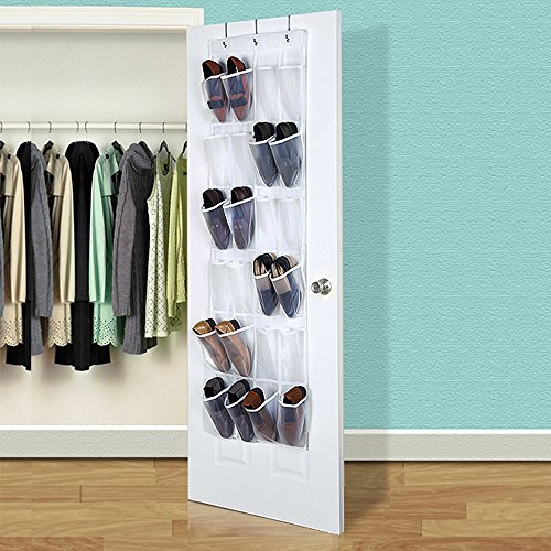 Eutuxia Over the Door 24 Pocket Shoe Organizer Hanging Rack
