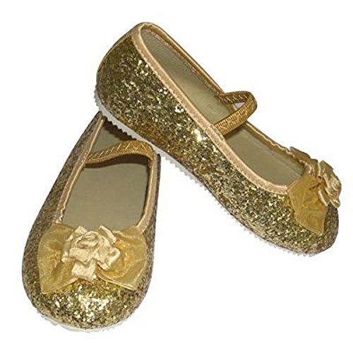 Travis - Chaussures Fille - Ballerines Pailletées. Taille 29 / 30. Couleur Dorée.