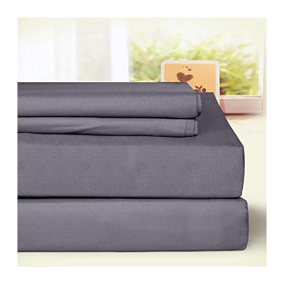 BLC Bed Sheet Set, Hypoallergenic Microfiber 3-piece sheets with 14-Inch Deep Pocket (Twin XL, Dark Gray) -  - sheet-sets, bedroom-sheets-comforters, bedroom - 51MwmMzhXVL. SS570  -