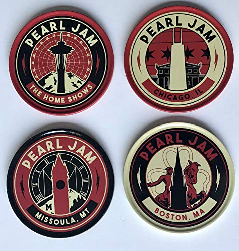 Pearl Jam coaster set 2018 tour the home shows chicago boston seattle