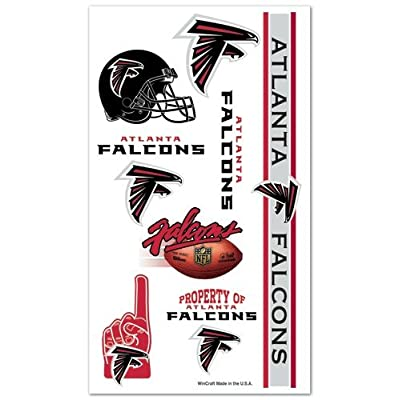 Atlanta Falcons NFL Temporary Tattoos (10 Tattoos): Toys & Games