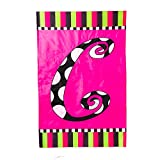 Twirly Curly Monogram Garden Flag Size: 43″ H x 28″ W, Letter: C