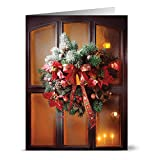 24 Holiday Note Cards - Warm Christmas - Blank Cards - Red Envelopes Included