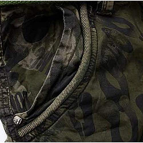 Pantaloni Cinturino Esterno Jeans Short Taschino Cargo Armeegrün Corti Uomo Pantalone Con Multi Senza Da Vintage Savage 5 Eudolah Giovane Sportivo SvZrSwTqnY