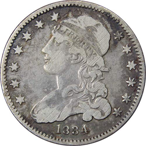 1834 25c Capped Bust Silver Quarter Coin VF Very Fine Details