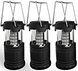 Portable LED camping lantern, lemontec water resistant Ultra Bright 30 LED lantern for hiking, emergencies, hurricanes, outages, storms, camping (3 AA Batteries), 3 Pack (Misc.)