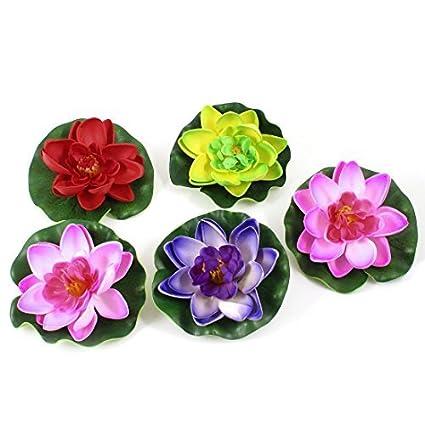 Amazon.com : eDealMax DE 5 piezas planta de la Flor de Loto acuario Decoración de emulación de espuma, Multicolor : Pet Supplies