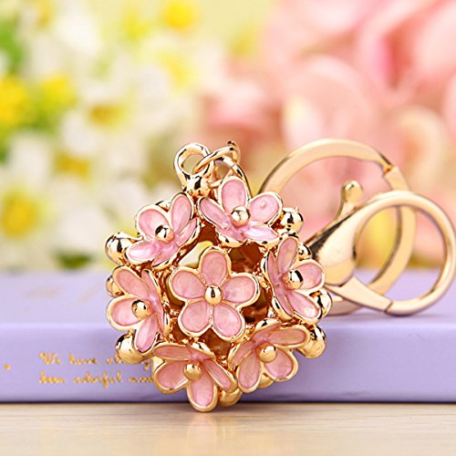 Newest Style Little Daisy Flowers Car Key Chain Key Jewelry Keyring Fashion Trinket Souvenir Christmas Gift Bag Key Holder Decorations -