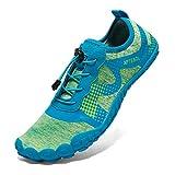 APTESOL Unisex Beach Barefoot Water Shoes (Green, 10 US Women/ 9 US Men)