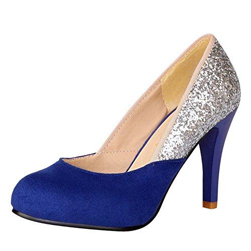 da MissSaSa Lavoro Elegante per Scarpe Sala Blue Donna rwSIqCr