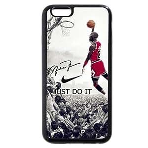 UniqueBox - Customized Black Soft Rubber TPU iPhone 6 Plus 5.5 Case, NBA Superstar Chicago Bulls Michael Jordan iPhone 6 Plus 5.5 Case