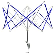 Longshow Umbrella Swift Yarn Winder Hand Operated Ball Winder Holder Knitting Tool for Wool String, Blue