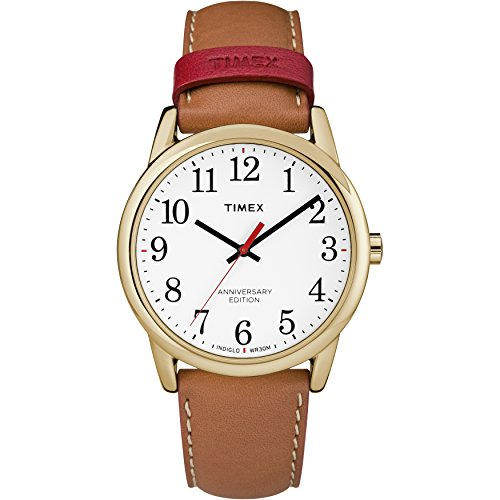Timex Men s Easy Reader Leather Strap 38mm Watch
