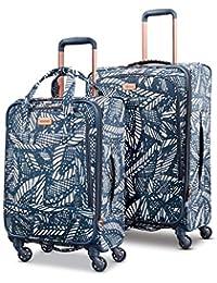 Belle Voyage Softside Luggage with Spinner Wheels, Floral Indigo Sand, 2-Piece Set (21/25)