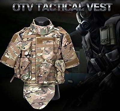 Hannah fit Tactical Molle Airsoft Vest Paintball Combat Soft Vest +Shoulder pads Tan
